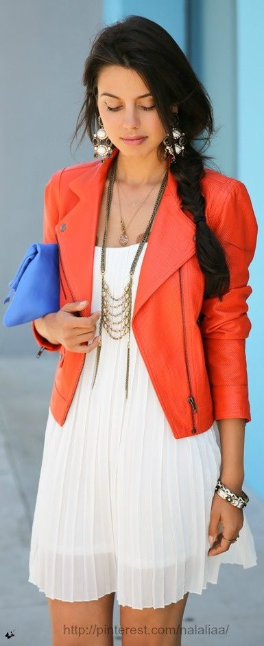 summer jacket in orange