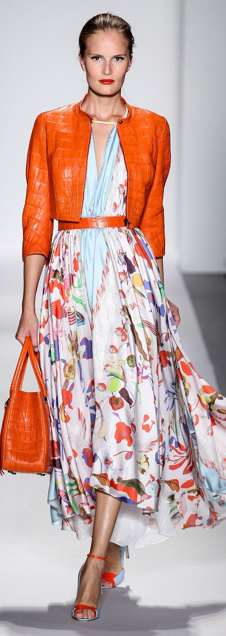 summer jackets maxi dress and orange jacket