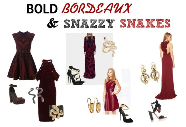 Bold Bordeaux and Snazzy Snakes