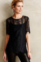 casual chic black lace