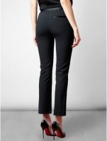 menswear ankle length trousers in black