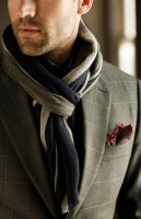men's european knot scarf olive