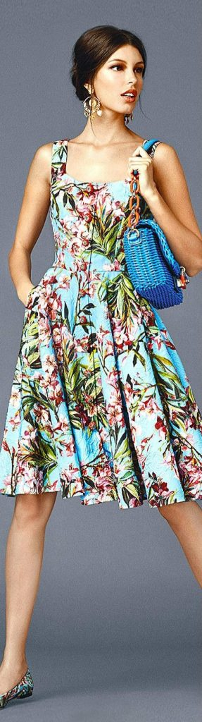 What to Wear to a Summer Soiree, afternoon barbecue, floral midi dress