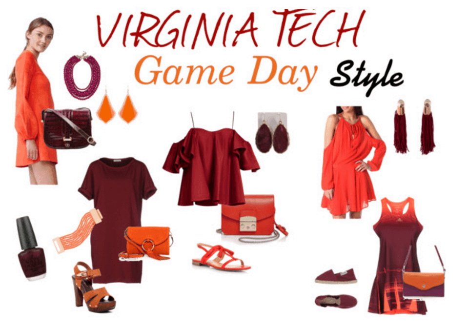 what to wear to a Virginia Tech game, game day style