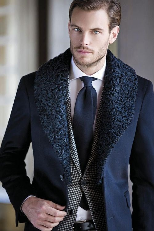 5 Stylish Coats that Completely Change Your Look Men, blue wool coat with fur collar, black and white houndstooth blazer