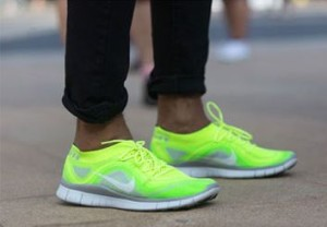 men's bright trainers