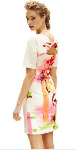 watercolor dress pink sheath back