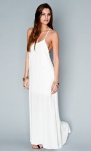 white crepe maxi dress