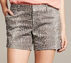 banana republic snake print shorts