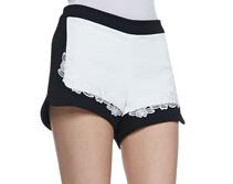lace shorts black and white