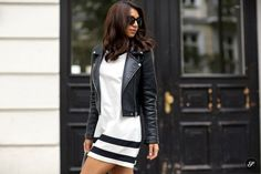 sporty dress with moto jacket small