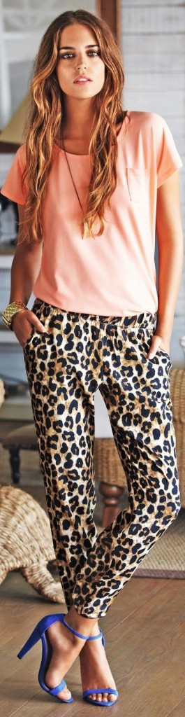 harem pants animal print