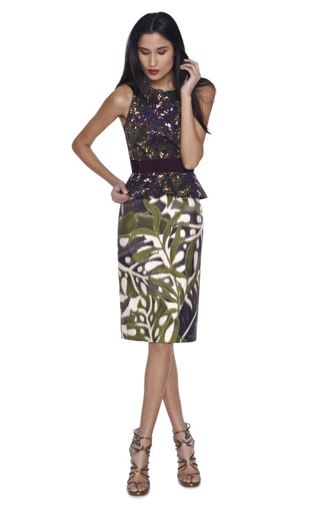jungle print skirt and top