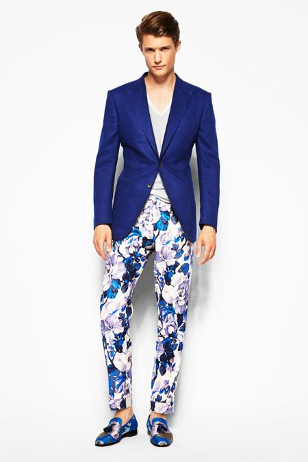 men's print pants floral by Tom Ford
