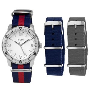 men's watch with interchangeable bands breda