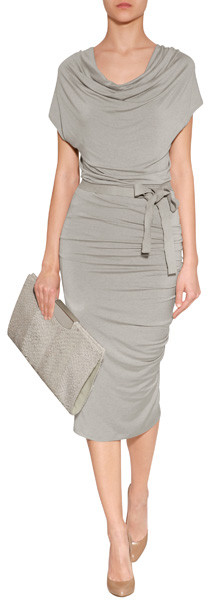 50 plus fashion donna karan gray dress