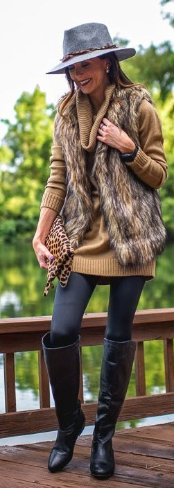 50 plus fashion fur vest