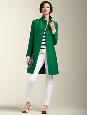 50 plus fashion green coat