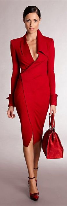 50 plus fashion red dress
