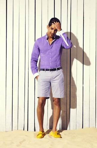 fashion do and don't shorts with yellow loafers