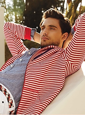fourth of july men's striped sweater look