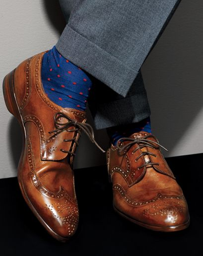 print socks with blue sock