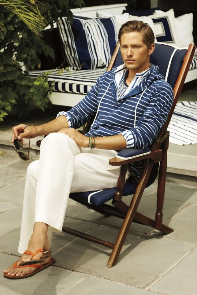 resortwear men's lounging blue outfit