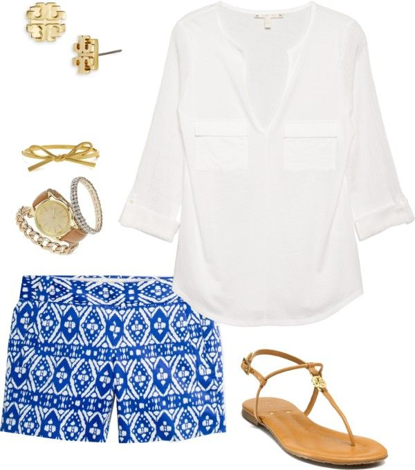 resortwear print shorts and tunic
