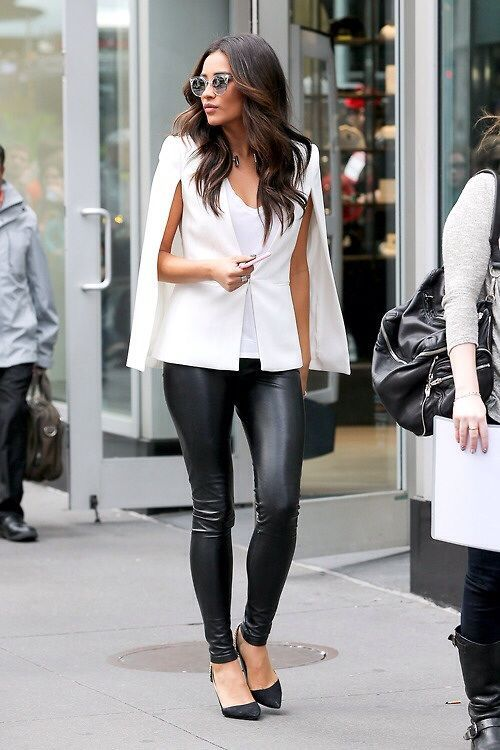 summer jacket white blazer with leather pants