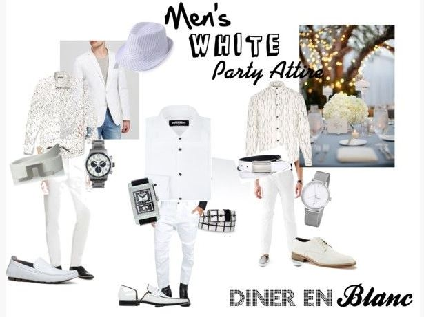 diner en blanc men's white attire