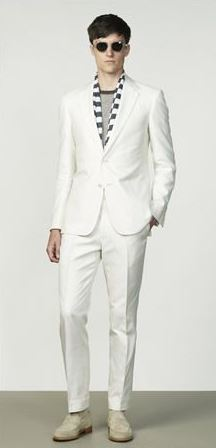 diner en blanc men's white with scarf