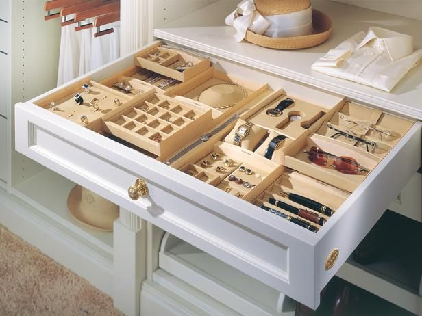 jewelry drawers white