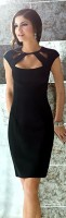 black dress with large neckline