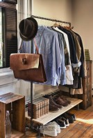 closet design industrial rolling rack