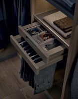 closet design men's jeans and accessories