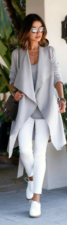date night cardigan and white pants