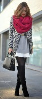 fall animal print sweater