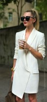 long blazer white dress