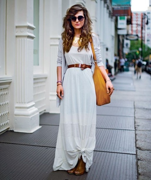 maxi dress and cardigan for fall