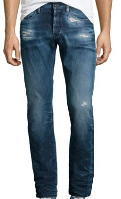 men's distressed denim PRPS mambo stone wash