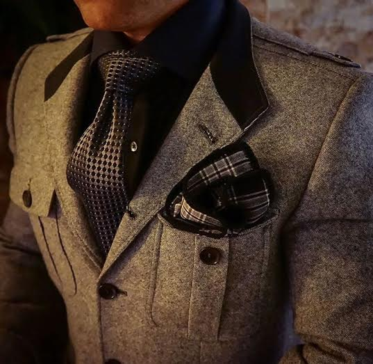 men's fall tweed jacket