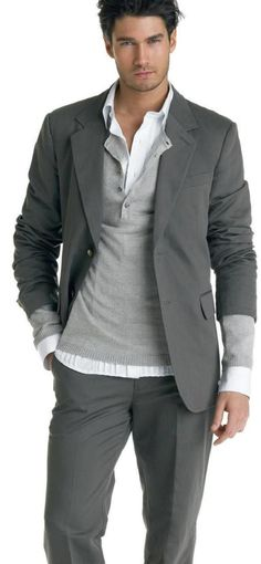 men's henley and blazer