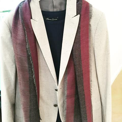men's scarf with blazer