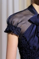 navy sheer shoulder blouse