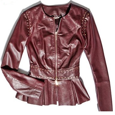 port color leather jacket