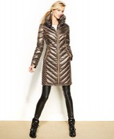 puffer coat metallic