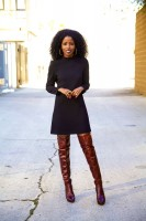 fall boots knee high boots and dress