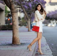 fall boots winter white skirt and sweater with nude open toe booties
