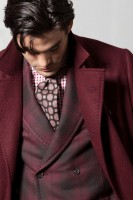 men's fall layers burgundy jacket