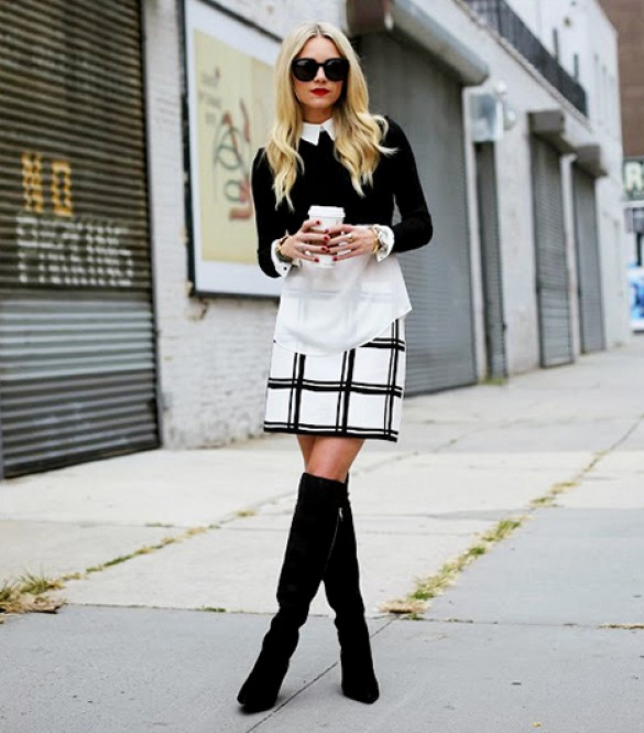 print mini skirt and cropped sweater